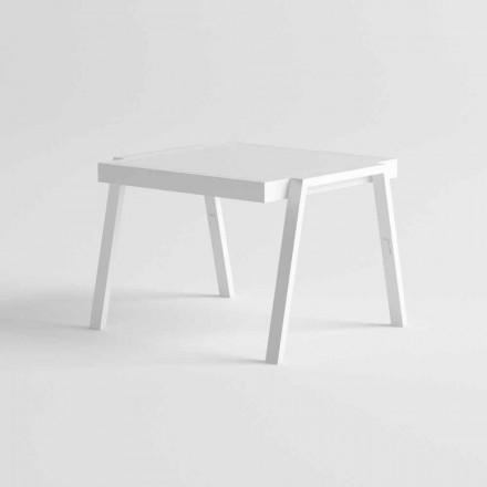 Moderne salontafel voor buiten in aluminium en HPL - Carmine2