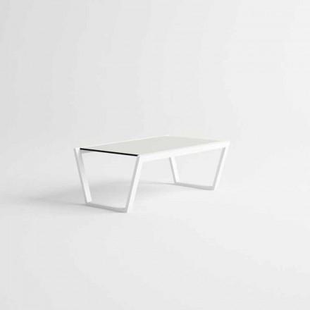 Lage design tuintafel in wit aluminium - Louisiana3