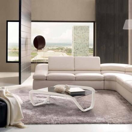 Modern design glazen bijzettafel en Solid Surface Continuum