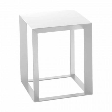 Vierkante design metalen salontafel 2 afmetingen - Josyane