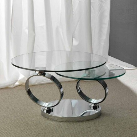 Tafel met twee ronde toppen beweegbare gesynchroniseerd glas Chieti