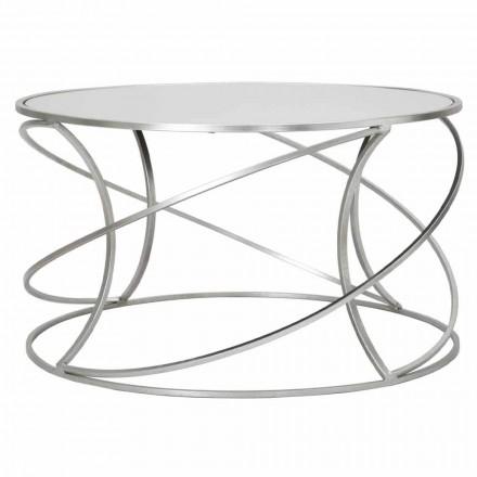 Lage salontafel voor woonkamer in ijzer en moderne spiegel - Corine