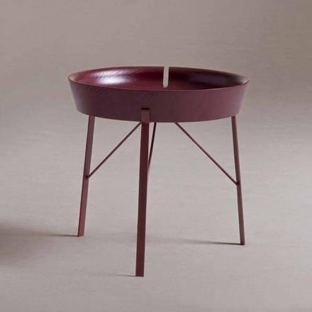 Salontafel voor woonkamer in staal en gekleurd hout Modern design - Cocoon
