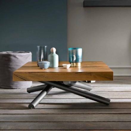 Transformerende salontafel van design in hout Made in Italy - Vincenzo
