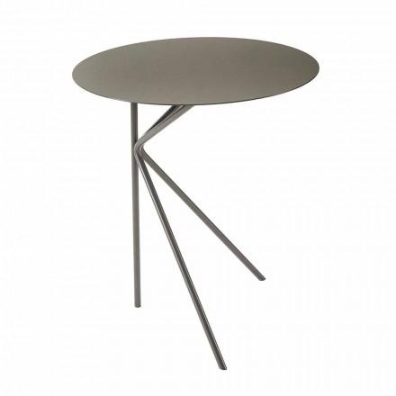 Ronde metalen salontafel, design in verschillende kleuren en 2 maten - Olesya