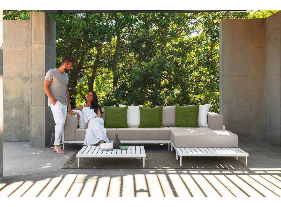 Aluminium rechthoekige salontafel voor buiten - Cleo Alu van Talenti