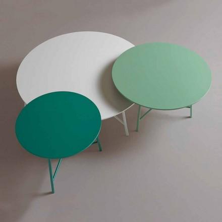 Kleurrijke moderne ronde design salontafel voor woonkamer - Boogie