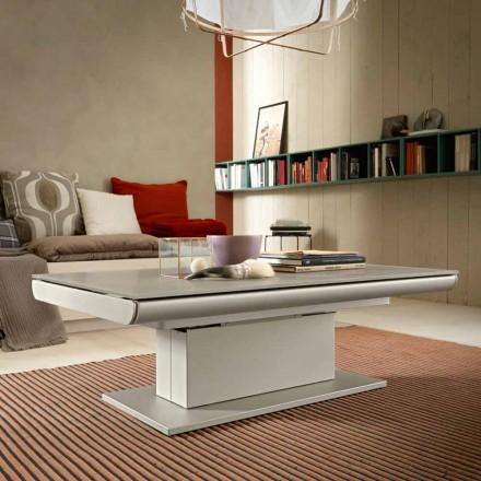 Transformerende salontafel in glas en staal Made in Italy - Silvestro