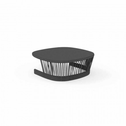 Cliff-buitentafel van Talenti, in koord en aluminium, ontwerp van Palomba