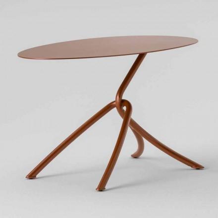 Kostbare salontafel voor buiten in geverfd metaal Made in Italy - Lubeck