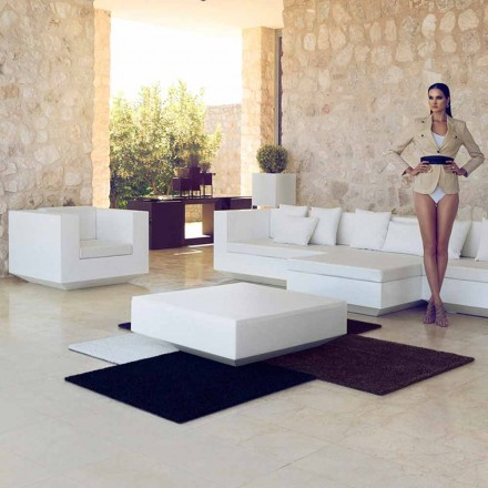 Tuinvierige salontafel Vela Vondom, modern design in polyethyleen