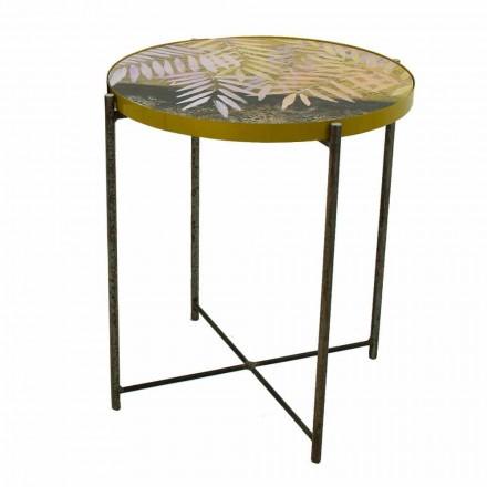 Salontafel voor binnen of buiten met metalen structuur Made in Italy - Carim