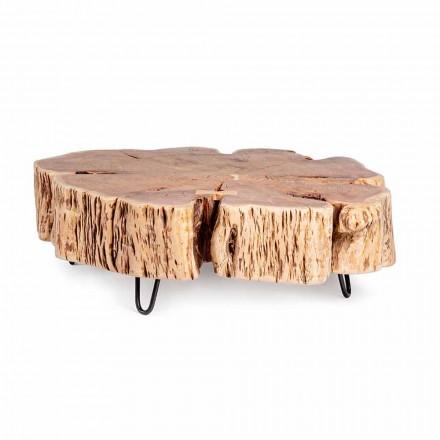 Homemotion Salontafel met gevormd blad van acaciahout - Nabucco