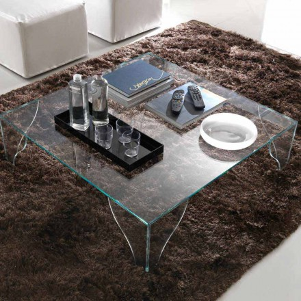 Salontafel in extra helder transparant kristal Made in Italy - Lithium