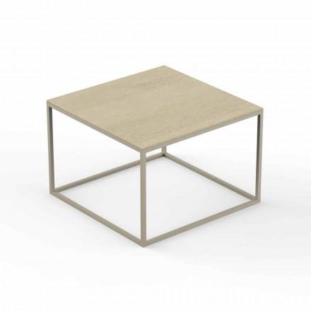 Design tuintafel, vierkant blad met marmereffect - Suave by Vondom