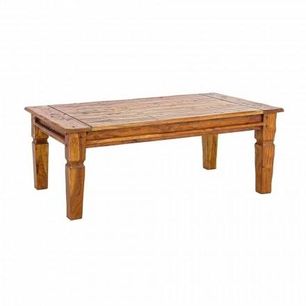 Massief acaciahouten salontafel Homemotion Classic Design - Remo
