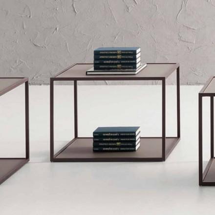 Metalen salontafel met kristallen blad Made in Italy - Fermio