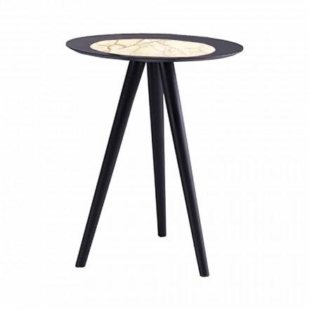 Moderne salontafel met rond blad in Gres Made in Italy - Stuttgart
