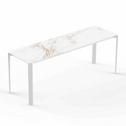 Moderne salontafel voor binnen of buiten in aluminium - Tablet van Vondom