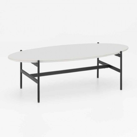 Modern design ovale woonkamer tafel met keramische blad - Donatella