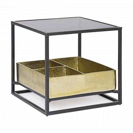 Homemotion Vierkante salontafel met glazen blad - Sigismondo