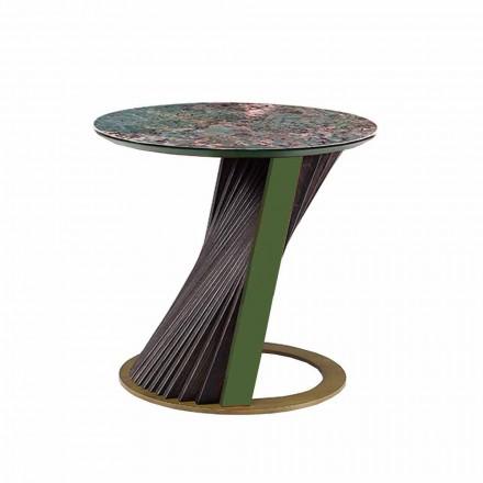 Luxe ronde salontafel in Gres en Ash Made in Italy - Bering