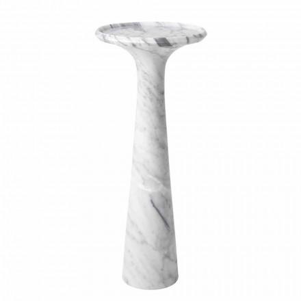 Ronde design salontafel in wit Carrara marmer - Udine