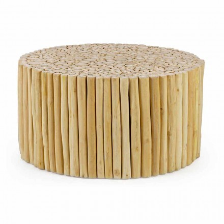 Ronde salontafel gevormd door Homemotion Teaktakken - Takje