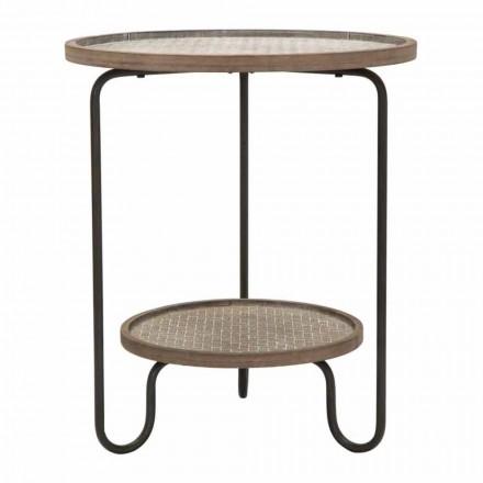 Modern design ronde ijzeren en MDF salontafel - Luther