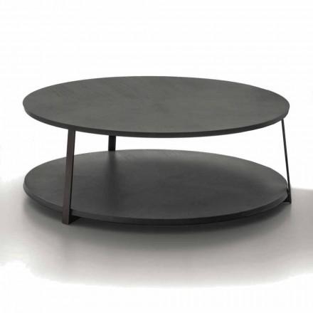 Ronde salontafel in Mdf met metalen structuur Made in Italy - Aloë