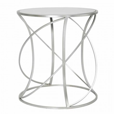 Moderne stijl ronde ijzeren en spiegel salontafel - Cymone