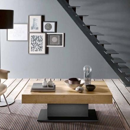 Transformatortafel in hout en staal Made in Italy - Demetro