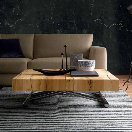 Transformerende salontafel in massief hout Made in Italy - Trabucco