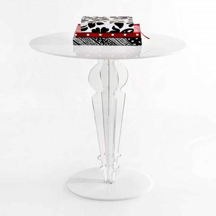 Klassiek design tafeltje in acrylglas H 64 cm, Cles