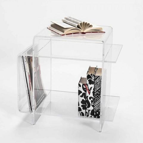 3 Plexiglas Bijzettafeltjes.Moderne Plexiglas Salontafel Met 3 Planken Gemaakt In Italie Gosto