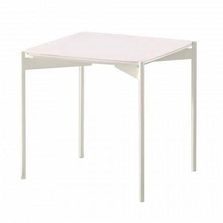Moderne design keramische en metalen vierkante salontafel - stekelvarken