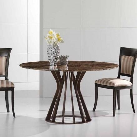 Eettafel gemaakt van emperador donker marmer, modern design, Cesare