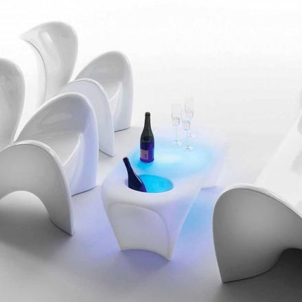 Lichte salontafel met mousserende wijnfles, ontwerp voor buiten of binnen - Lily by Myyour