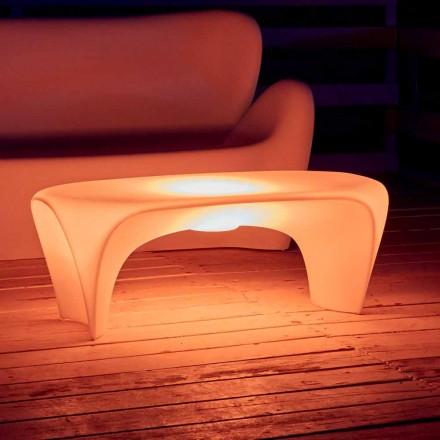 RGB-lichtgevende salontafel voor buiten- of binnenontwerp in kunststof - Lily by Myyour