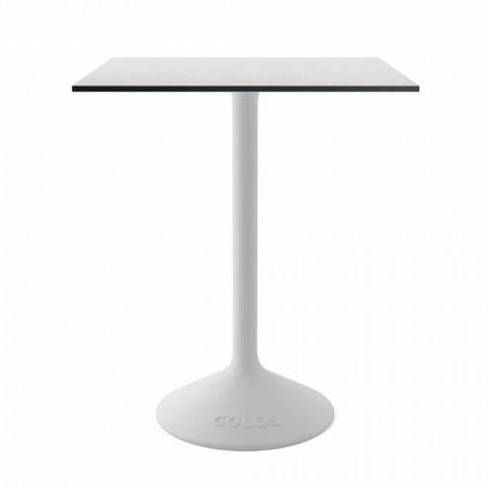 Moderne salontafel in gietijzer metaal en HPL voor buiten gemaakt in Italië - Colby