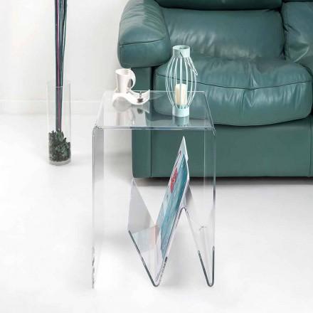 Modern design kleine tafel / tijdschriftenrek, in plexiglas, Cavour