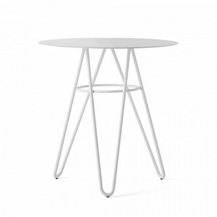 Kostbare salontafel voor buiten in HPL en wit metaal gemaakt in Italië - Dublin