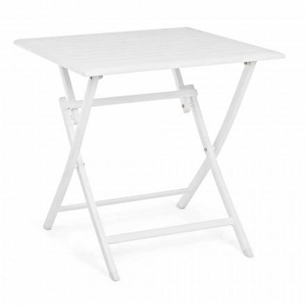 Vierkante opvouwbare salontafel voor buiten in geverfd aluminium - Hunt