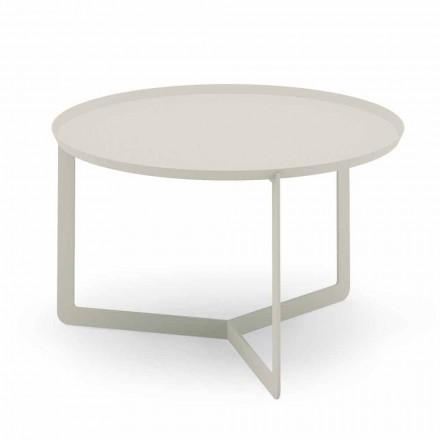 Ronde salontafel voor buiten in hennep- of moddermetaal - Stephane