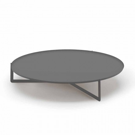 Ronde salontafel voor buiten van hoogwaardig metaal gemaakt in Italië - Stephane