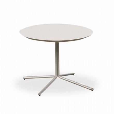 Ronde salontafel in wit MDF met modern design 2 maten - Geone