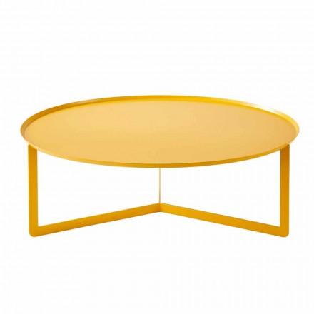 Moderne ronde salontafel voor buiten in metaal Made in Italy - Stephane