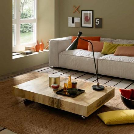 Transformerende salontafel in hout en zwart metaal Made in Italy - Niverio