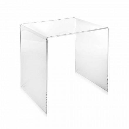 transparante modern design salontafel 40x40cm Terry Klein, made in Italy