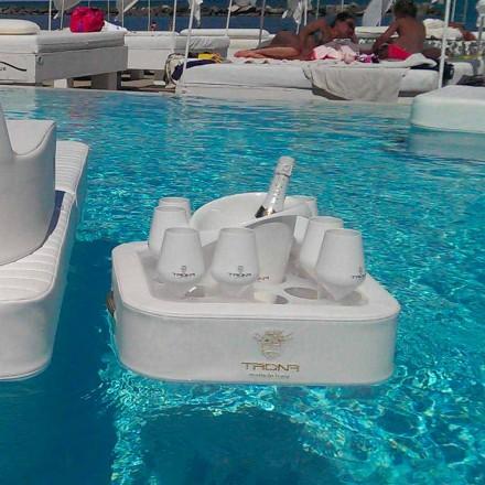 Salontafel - drijvende bak van kunstleer en plexiglas nautische Trona
